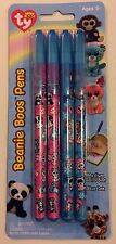 Ty Beanie Boos Ball Point Pens, Blue Ink, Med Point,  4 Pack - FREE SHIPPING