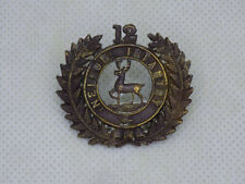 Original Pre-Wwi Anzac New Zealand 12th Nelson Regiment Collar Badge Jr Gaunt