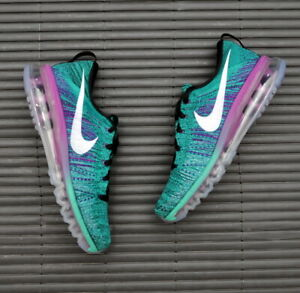 WMNS Nike Flyknit Max Clear Jade Hyper Violet 620659-013 UK4 UK5.5 UK6 UK6.5 TN