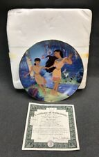 "DISNEY Bradford Exchange Pocahontas ""BEST OF FRIENDS"" Plate Six + COA 534A"