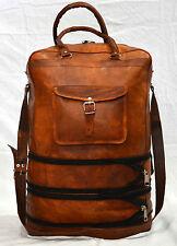 Men's Genuine Vintage Brown Leather Messenger Bag Shoulder Travel Bag Briefcase