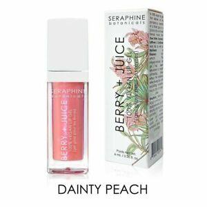 NIB! Seraphine Botanicals Berry + JuiceVegan Lip Gel Dainty Peach .20 fl oz F/S
