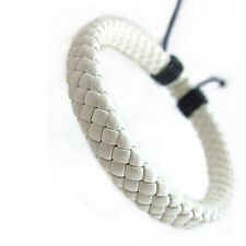 Faux Leather Simple Bracelet Wristband Mens Women Charm Wrap Bangle Jewelry CB