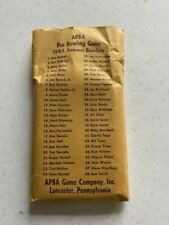 1982 APBA Bowling Card set (envelope flap gone)