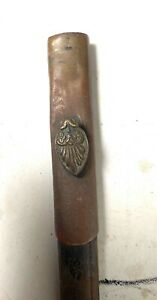 A very early - 1700 = 1800's court sword scabbard in leather with brass chape