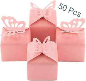 Butterfly Boxes Wedding Candy Gifts Favor Box Pink Baby Shower Rose Gold Decor