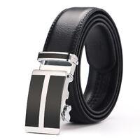 Riccho Men's Genuine Leather Ratchet Belt ~ Automatic Buckle ~ Elegant Gift Box