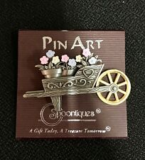 Pin Art Spoontiques Flowers And Wheelbarrow Pin