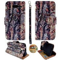 For Motorola Droid RAZR M XT907 Wallet PU Leather Brown Camo RT Case Cover PRl