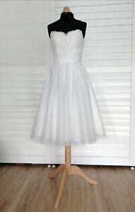Robe de mariée courte Pronuptia T38 ivoire modèle Melle Naïa tulle et dentelle