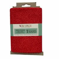 Red Starburst Print Cotton Fabric One Yard Waverly
