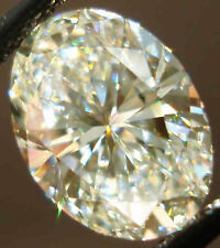 3.44 ct Vvs1 Off White Color Oval Loose Real Moissanite 4 Ring/Jewelry/Earrings
