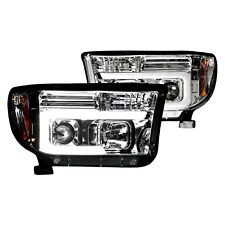 For Toyota Tundra 07-13 Recon Chrome LED DRL Bar Halo Projector Headlights