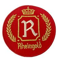 """Vintage Rheingold Beer 6"""" Embroidered Iron On Jacket Patch NOS"""