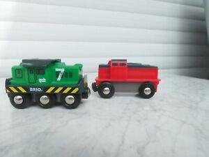 BRIO Batterie Lok 1x grün und 1x rot