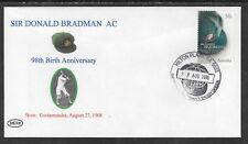 BRADMAN 2006 98th BIRTHDAY COVER BAGGY GREEN POSTMARK