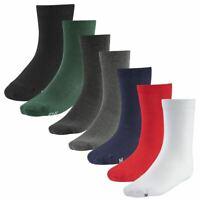 Boys Girls 3 Pairs Ankle School Socks COTTON RICH Plain Unisex Kids Childrens