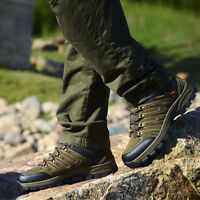 Mens Running Hiking Trail  Athletic Brown Suede casual Waterproof Shoes 10 10.5
