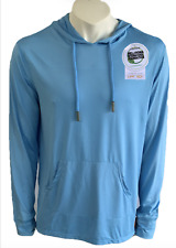 Microfiber Long Sleeve Fishing Shirt With Hoodie  T shirt Col Sky Blue