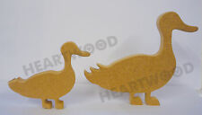 STANDING DUCK PAIR SHAPE IN MDF (100mm and 150mm x 18mm thick)/WOODEN CRAFT