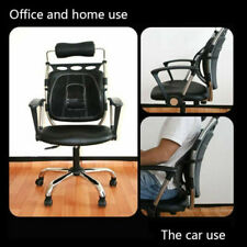 Cool Vent Cushion Mesh Back Lumbar Support New Car Office Chair Truck Seat Black