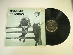 HILLBILLY HIT PARADE V. 2 II MERCURY RECORDS George Jones COUNTRY MUSIC Vinyl LP
