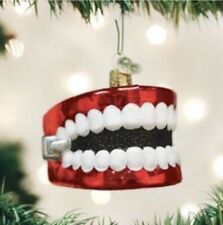 Glass Windup Teeth Ornament Kid Birthday Party Decoration Funny Cool Gag Comedy