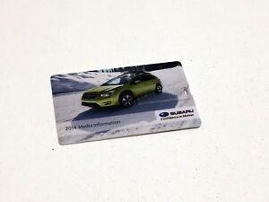 2014 Subaru BRZ Outback WRX Press Kit Brochure