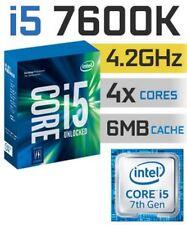 CPU i5-7600k Kaby Lake Socket lga1151 gestori for desktop & Clevo Notebook