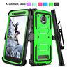 For Motorola Moto Z2 Force/Z2 Play Shockproof Hybrid Case Kickstand Clip Holster