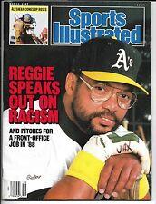 Sports Illustrated - Reggie Jackson Speaks On Racism-Oak A's /NY Yankees - 1987