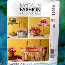 MCcall's 5641 Laura Ashley Fashion Hat Bags NEW Pattern