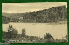 BOY SCOUT POSTCARD - SCHIFF SCOUT RESERVATION WATERFRONT
