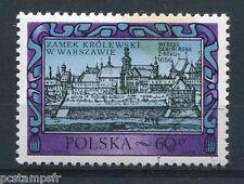 POLOGNE 1972, timbre 2040, ARCHITECTURE, CHATEAU ROYAL de VARSOVIE, oblitéré