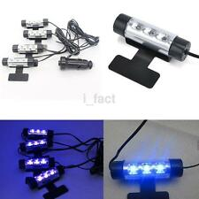 4X3 LED Car Auto Interior Atmosphere Footwell Lights Decor Lamp Blue Light UK