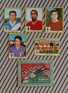 LOTTO 5  FIGURINE e BUSTINA ALBUM CALCIATORI EDIS 1969-70 no Panini