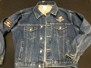 "Vintage Warner Bros Harley Davidson ""Taz"" Denim Jacket Ride Like The Devil Sz S"