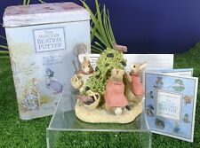 BEATRIX POTTER BORDER FINE ARTS FIGURINE  'FLOPSY,MOPSY & COTTONTAIL 'A0623