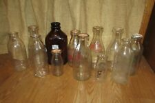 Vtg Milk Glass Bottles Meadows-Pleasant View-Banquet-Wilson-Hoffman-Gray #1029