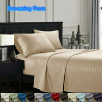 """KING SIZE SHEETS Hotel Luxury 4 Piece 14"""" Deep Pocket 1800 Count Bed Sheet Set H"""