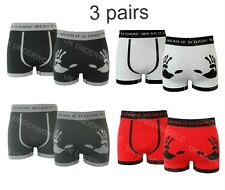 3 Pairs Mens Boxer Shorts Seamless Trunks Briefs Adults Underwear DESIGNER Large