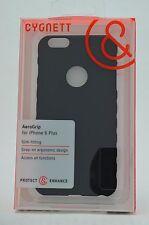 "Cygnett Aerogrip Slim Fit Snap on Case for Apple iPhone 6 Plus"" Black -FREE S&H!"