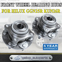 For Toyota Hilux Pair Front Wheel Bearing Hubs Assembly GGN25R KUN26R 2005-2015