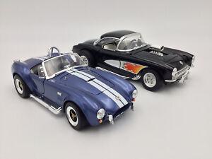 1/18 Bundle 1964 Shelby Cobra 427 SC & 1957 Corvette Gasser