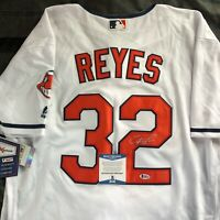 Franmil Reyes Signed Cleveland Indians Jersey Autographed Auto + BECKETT COA!