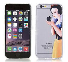 cover custodia per iPhone 6 6s biancaneve tpu trasparente Morbida silicone 0.33m