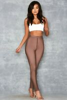 Mistress Rocks Waternymph Brown Mesh Overlay Party Sexy Leggings Size S
