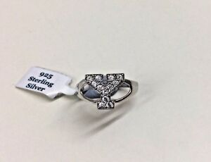 925 Sterling Silver Cubic Zirconia Pave Set Initial Y Ring - NEW