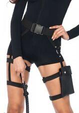 Gürtel mit Oberschenkel Tasche Holster Spionin Kostüm Zubehör Halfter Kämpferin