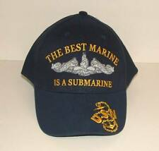 Best Marine Is A Submarine US Navy Embroidered Licensed Military Ball Cap/Hat.